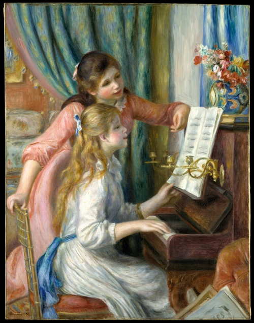 Two Young Girls at the Piano -Renoir  Lehman Collection
