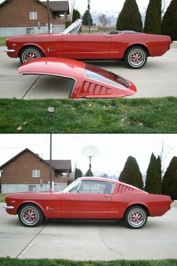 Pour Ju !!! Mustang fiberglass fastback roof for convertible Shut up and take my MONEY!!!