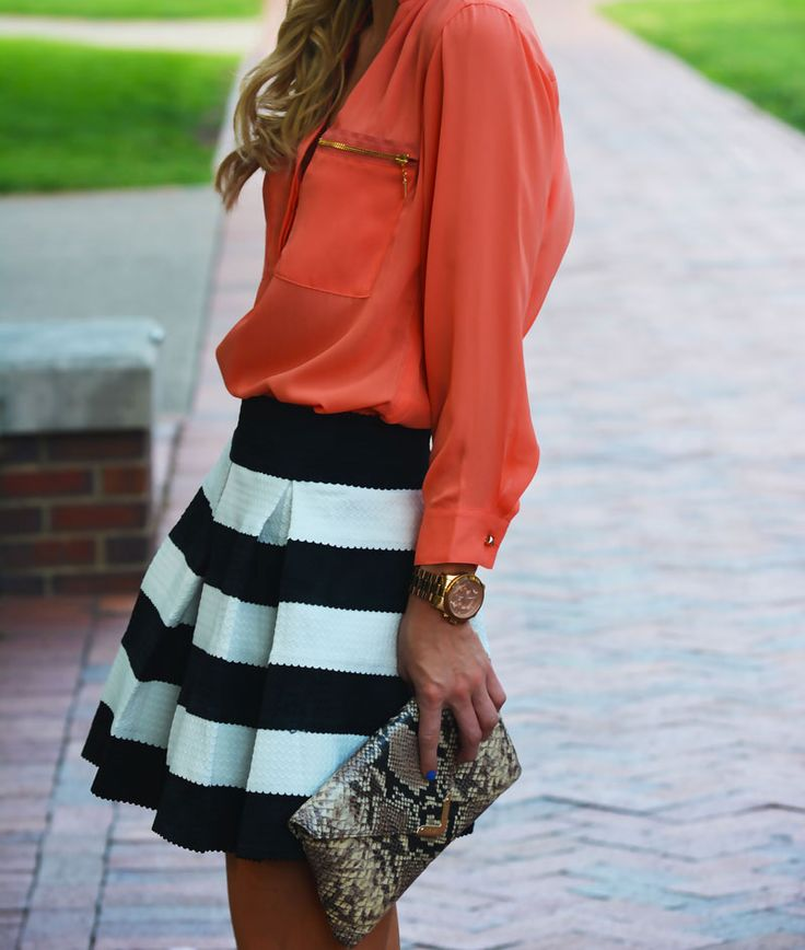 17 Best images about black and white stripe skirt on Pinterest ...