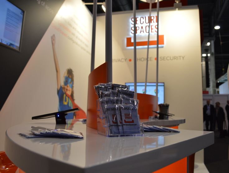 #MWC15 booth @Graphitesoft #SecureSpaces  swag, giveaways, demo phones