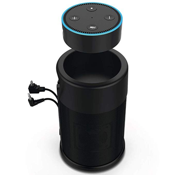 Portable Wireless Speaker For Amazon Echo Dot 2nd Generation With Built In Rechargeable Battery Wireless Speakers Portable Rechargeable Batteries Amazon Echo