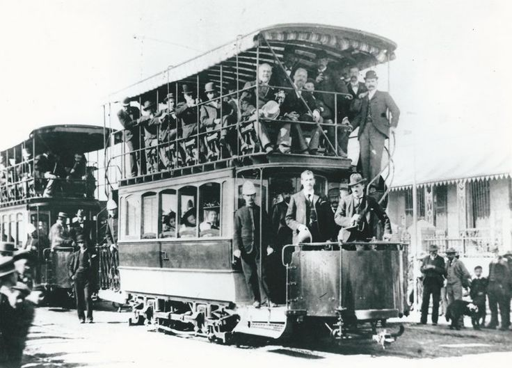 Trams, used between Cape Town & Greenpoint, at the turn of the last Century