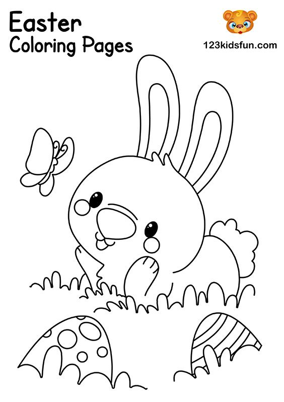 Easter Bunny Coloring Pages Easter Coloring Pages Free Easter