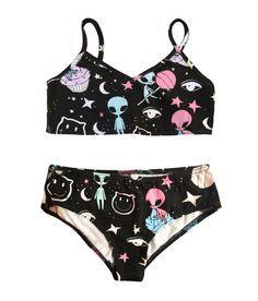 Galaxy print Women underwear Underwear set Underwear by PLASTICJUS
