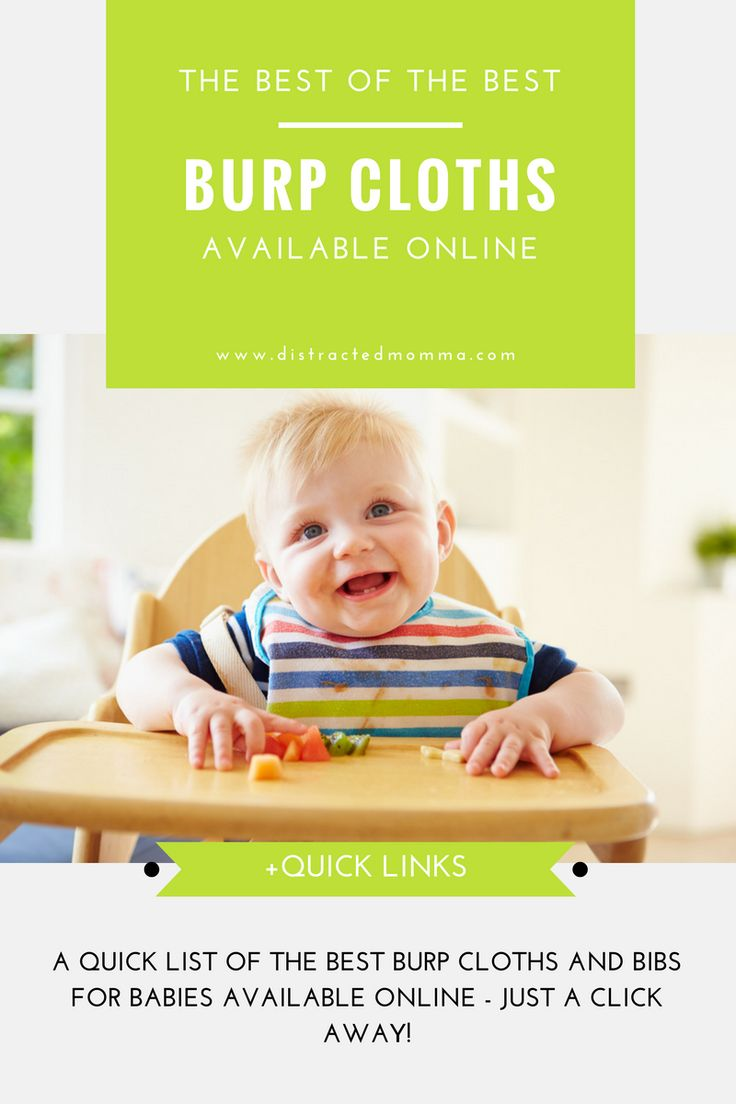 Check out the best burp cloths for babies available online. Grab 'em in just a few clicks. Perfect for busy mommas!