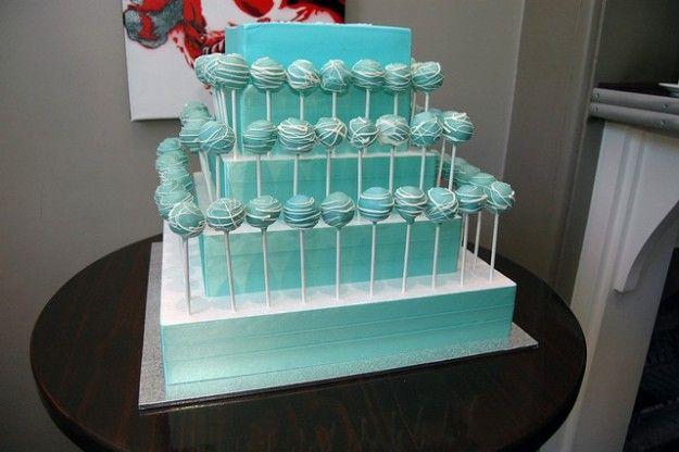 Cake pops turchese