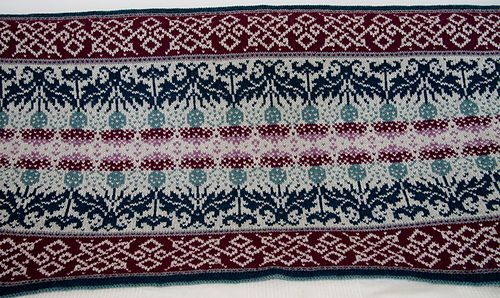 hem: NS 3,25 fair isle part: NS 3,75  co 423sts using the Knitted Cast On (416 + 7 steek sts). Modification: I did not work the hem flat, but join to knit in rounds in the first row.  total use for...