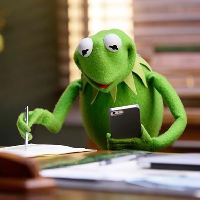 """""""Trying to make sense of a group text."""" The Muppets's photo."""