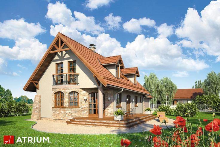 LIMBA – dom na wąską działkę z garażem na frontowej elewacji budynku i tarasem zlokalizowanym w ściętym narożniku pokoju dziennego. Dach urozmaicony lukarnami. Idealna propozycja dla 4-6 osobowej rodziny ceniącej sobie proste i estetyczne rozwiązania.
