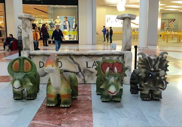 Prova tutti i dinosauri elettrici a I Gigli! #dinoland