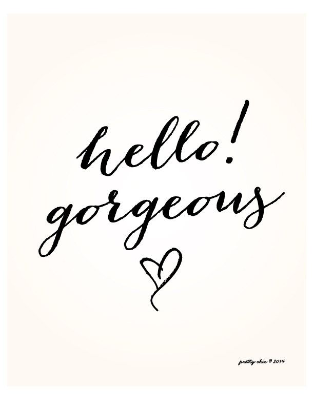 Hello! Gorgeous - your inner beauty shines through. So proud of the person you are! <3<3