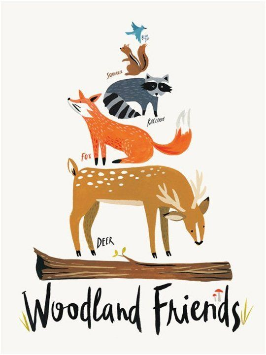 Woodland Friends by Katie Gastley of IdlewildCo — On The Wall