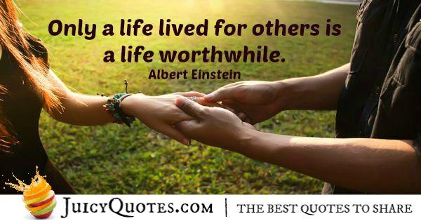 Quote About Life - Albert Einstein