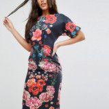 ASOS ASOS Wiggle Dress in Placement Floral