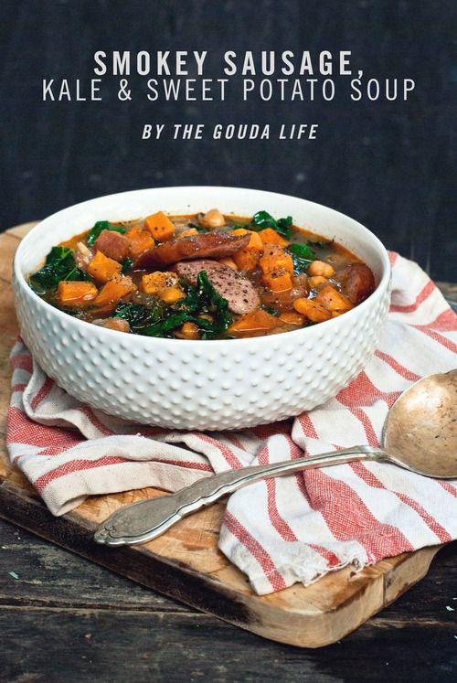 15 Minutes to Dinner [Smokey Sausage, Kale & Sweet Potato Soup - *SPONSORED*] - THE GOUDA LIFE
