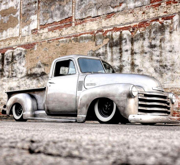 Slammed Silver Chevrolet Truck