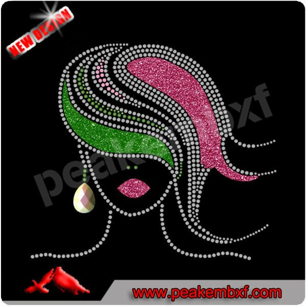 Beautiful Glitter Afro Lady Wholesale Iron On Applique for Clothes, View Wholesale Iron On Applique, Peakxf Product Details from Changsha Peak Accessory Co., Ltd. on Alibaba.com