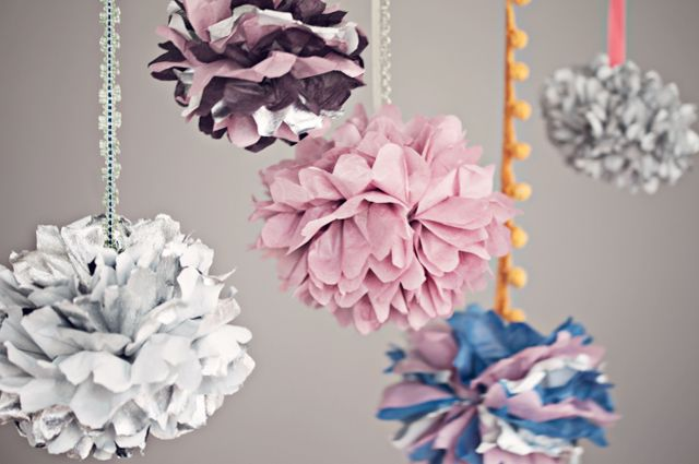 I like the idea of hanging poms from trim.