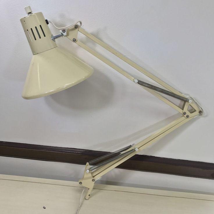 Vintage Mid Century Modern Industrial Luxo Style Drafting Table Desk Lamp Beige  | eBay