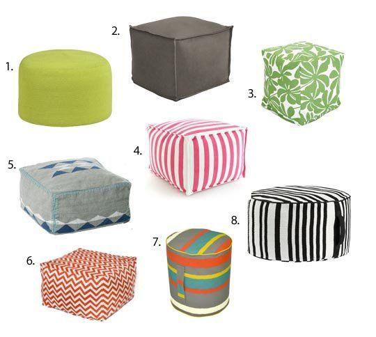 inside style goes outside outdoor poufs