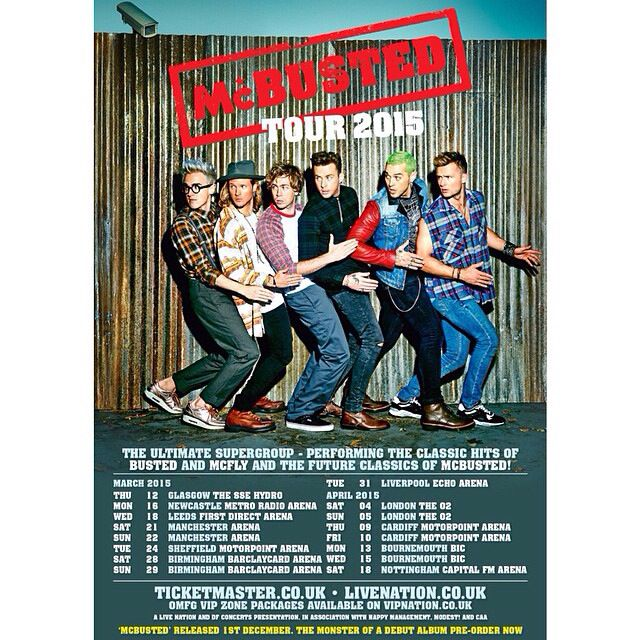 McBusted tour poster 2015. April 10 can't freaking wait!!
