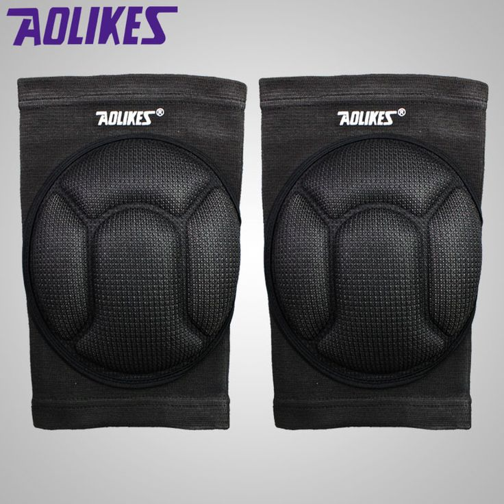 1 pair AOLIKES sponge knee pads for dancing basketball volleyball rodilleras sliders patella guard protetor support kneepad