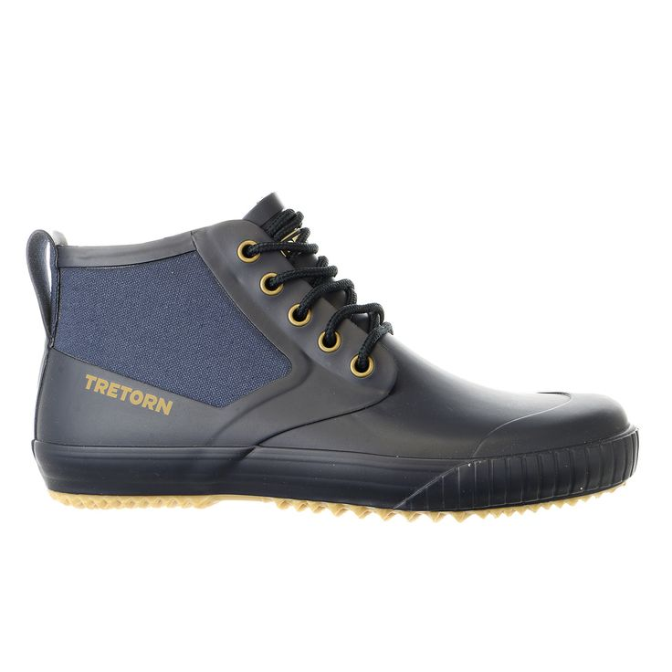 A sophisticated rain boot cut from waterproof rubber is lined with soft microfleece for all-day comfort...