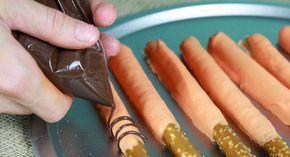 Daniel Tiger Birthday Party Recipes: Striped Pretzel Rods . PBS Parents   PBS