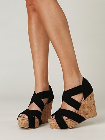 : Style, Cute Shoes, Summer Shoes, Black Sandals, Cute Wedges, Wedges Shoes, Corks, Summer Wedges, Black Wedges