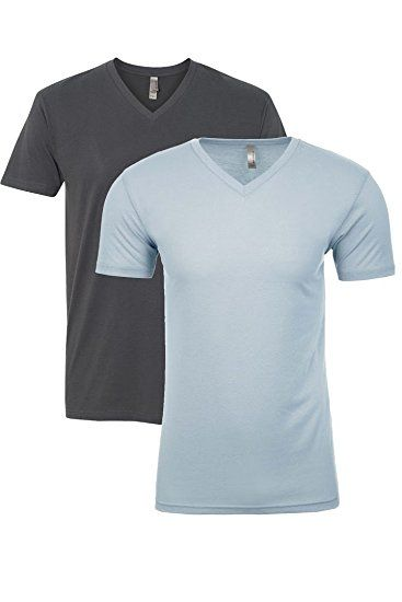 b054ea977 Next Level Apparel 6440 Mens Premium Fitted Sueded V-Neck Tee -2 Pack