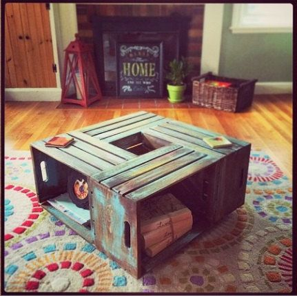 The 25 best Wine Crate Coffee Table ideas on Pinterest Diy