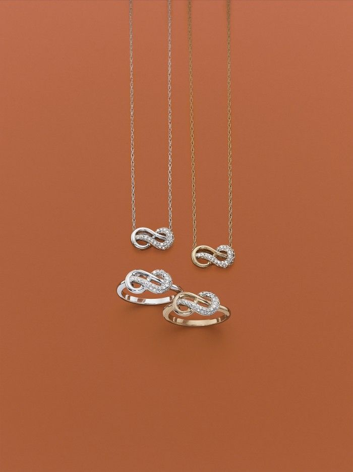infinite promise 1 10 ct t w pendant and ring in