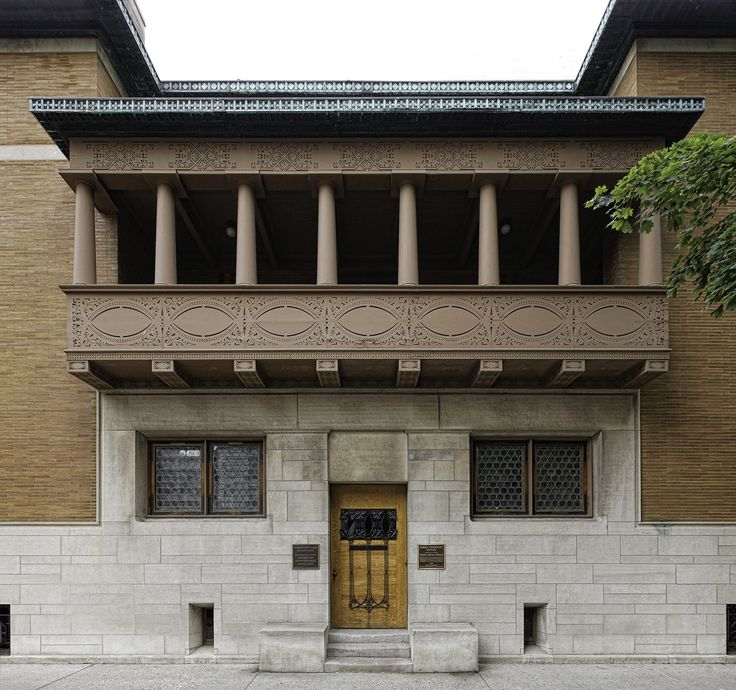 Louis Sullivan - Charnley House - 1892 - Chicago, USA                                                                                                                                                     More