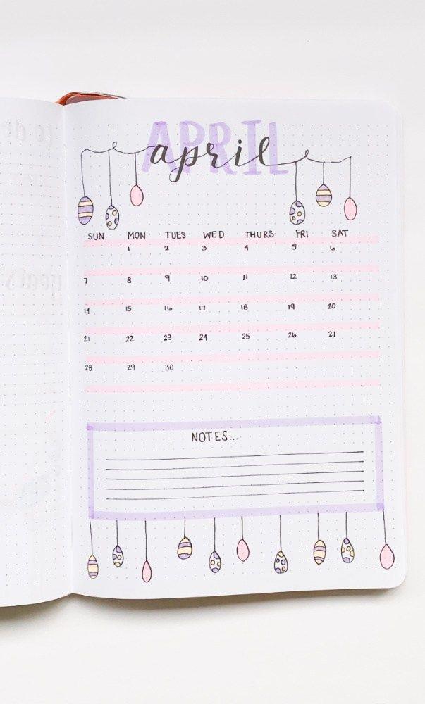 Bullet Journal Spreads for Spring