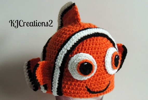 Crochet Clown Fish hat: Crochet Clowns, Crochet Buckets, Crochet Projects, Crochet Hats, Crochet Knits