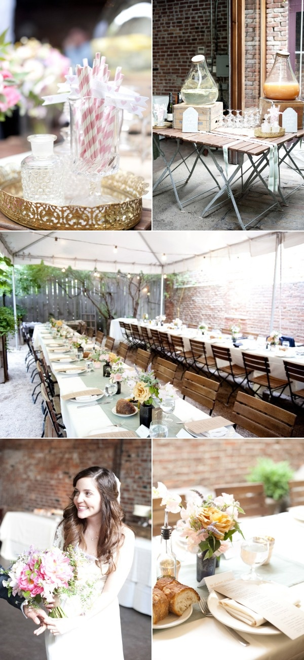 Brooklyn Wedding at Frankie's 457 from Raquel Reis | Style Me Pretty.  I love this so much (especially since it's in my area of Brooklyn!)  Beautiful.