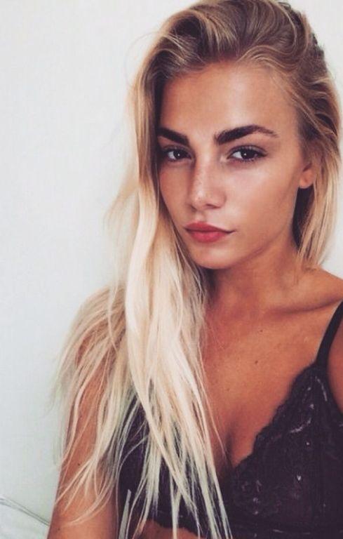 blonde hair black eyebrows google search hair ideas