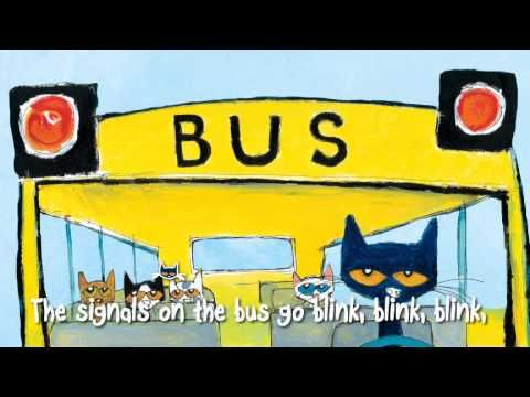 PETE THE CAT, THE WHEELS ON THE BUS. This is a short Video to sing with your child after reading PETER THE CAT books.