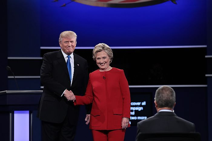 "Donald Trump and Hillary Clinton clashed in unusually personal terms during a taboo-breaking first general-election presidential debate on Monday evening, with Clinton accusing Trump of pushing ""racist lies"" about President Obama's birthplace, and Trump accusing Clinton of lacking the ""stamina"" to be president."