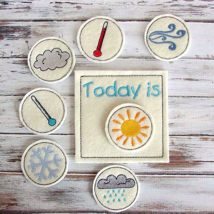 Kids Weather Chart - Toddler Educational Toy - Preshool -  Learning Weather - Felt Toy by AnnsCraftHouse on Etsy https://www.etsy.com/listing/170404205/kids-weather-chart-toddler-educational