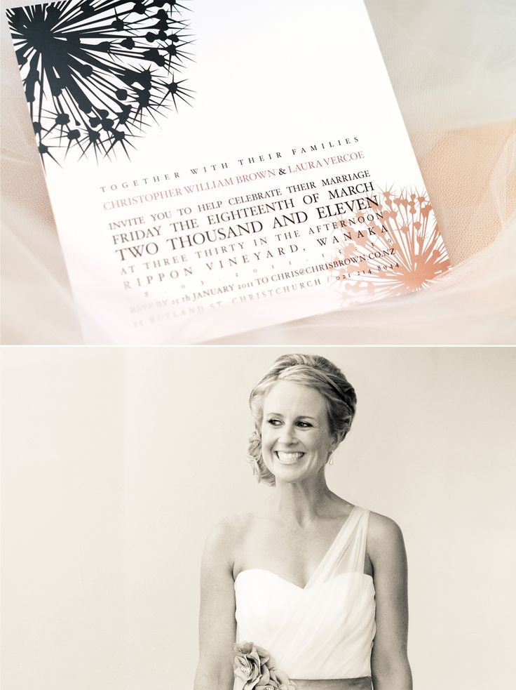 The world's loveliest couple, Laura & Chris tied the knot in a beautiful ceremony at Rippon Vineyard in Wanaka, Central Otago. Swordfox had the honour of creating their beautiful wedding invitations.