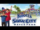 Checking out the new water slides at Knotts Soak City!