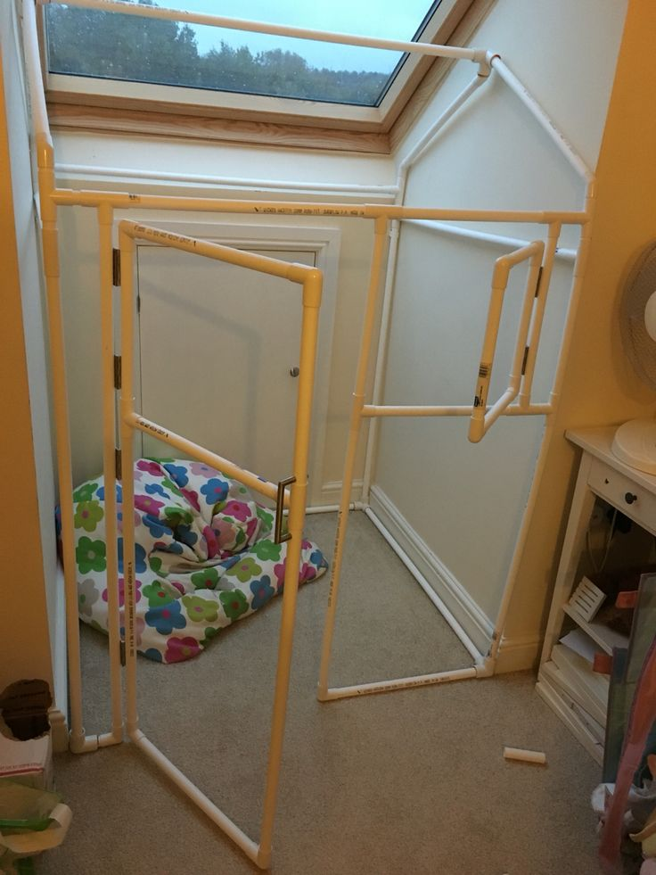 Sue ford pvc playhouse built for six yr old in alcove for Pvc playhouse kit