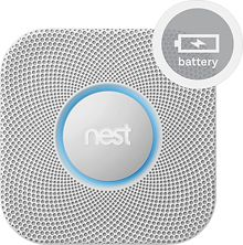 Nest - Protect Smoke and Carbon Monoxide Alarm (Battery) (854448003105) This Nest Protect S1001BW alarm offers voice alerts and sends a message to your phone in the event of smoke or carbon monoxide detection to keep your home or office safe. Nightly Promise provides green illumination when sensors and batteries are working.