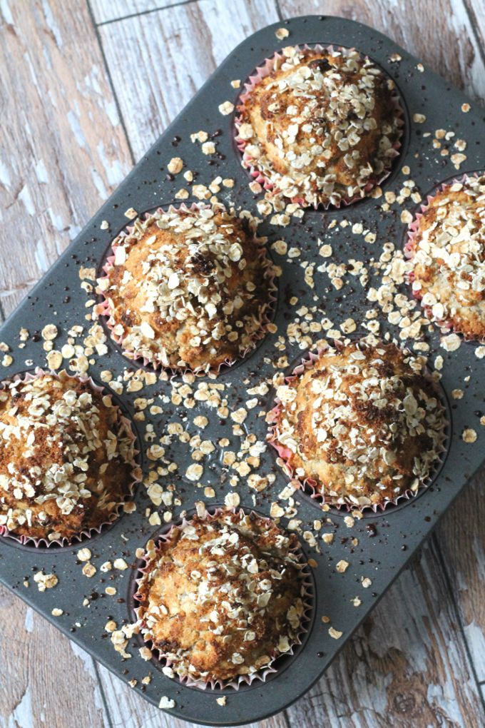 Spiced Pear and Oat Breakfast Muffins {gluten free, dairy free, sugar free}