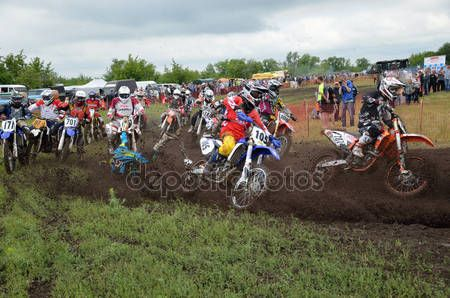 Holeshot parçalar, crash motokros grup bisikletçi mx başlatmak - Stok İmaj #11843193