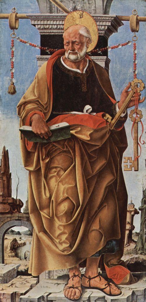 Francesco del Cossa, Maître Autel Griffon, aile gauche: Saint Pierre, San Petronio, Bologne, Pinacoteca di Brera, Milan1473