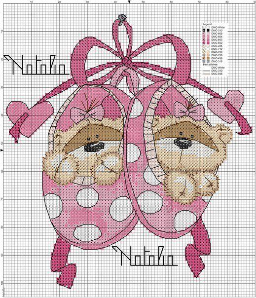 Вышивка мишки Fizzy Moon / Вышивка крестиком и бисером - схемы и хвастушки / Лунтики. Развиваем детей. Творчество и игрушки