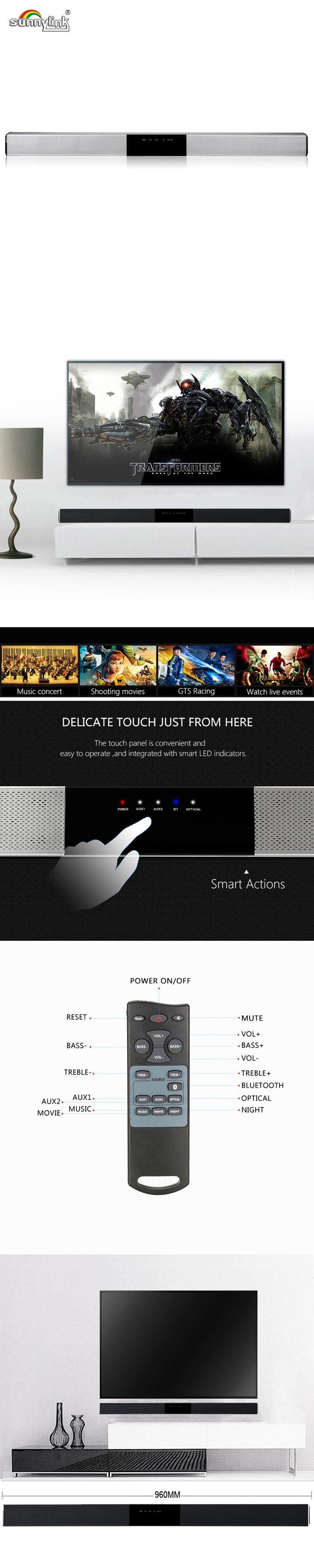 ULTRA SLIM  TV SOUNDBAR/SOUND BAR SPEAKER , BLUETOOTH 4.0 , POWERFUL BASS AND 3D SURROUND SOUND , HI-FI SMART TV /PC SPEAKER