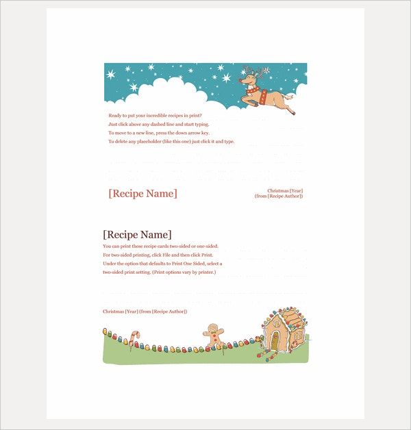 Free Psd Word Pdf Eps Format Download Free Premium Templates In 2020 Recipe Cards Template Holiday Recipe Card Christmas Recipe Cards